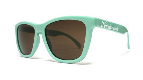 Classics Bio-Based Sunglasses with Seafoam Green Frames and Brown Amber Lenses, Back