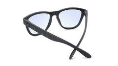 Kids Sunglasses with Matte Black Frame and Clear Blue Light Blocking Lenses, Back