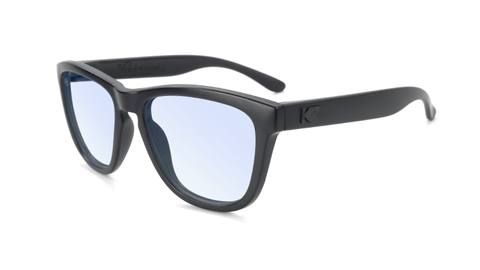 Kids Sunglasses with Matte Black Frame and Clear Blue Light Blocking Lenses, Flyover