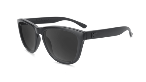 Kids sunglasses with Black Frames and Smoke Lenses, Flyover