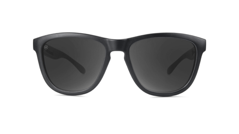 Kids sunglasses with Black Frames and Smoke Lenses, Back