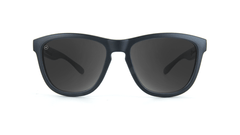 Kids Sunglasses with Black Frame, and Smoke Lenses, Front