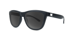 Kids Sunglasses with Black Frame, and Smoke Lenses, Threequarter