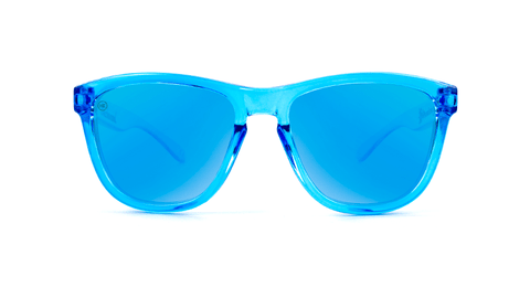 Kids Sunglasses with Blue Monochrome Frame and Blue Lenses, Back