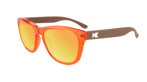 Kids Sunglasses with Campfire Frames and Red Sunset Lenses, Flyover