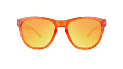 Kids Sunglasses with Campfire Frames and Red Sunset Lenses, Front