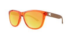 Kids Sunglasses with Campfire Frames and Red Sunset Lenses, Threequarter