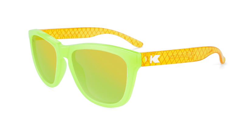 Kids Sunglasses with Pineapple Frames and Yellow Lenses, Flyover