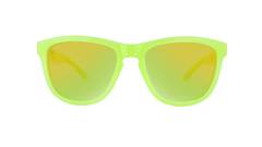 Kids Sunglasses with Pineapple Frames and Yellow Lenses, Front