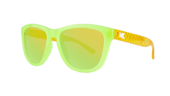 Kids Sunglasses with Pineapple Frames and Yellow Lenses, Threequarter