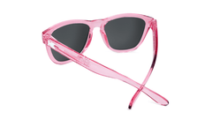 Knockaround Kids Sunglasses Pink Frames with Aqua Blue Lenses, Back