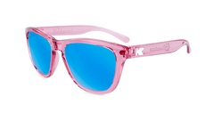 Knockaround Kids Sunglasses Pink Frames with Aqua Blue Lenses, Flyover
