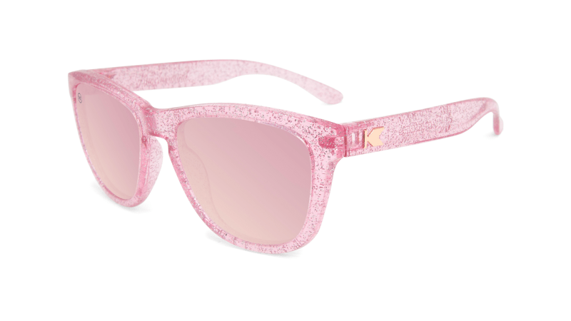 Kids Sunglasses with Pink Sparkle Frame and Pink Lenses, Flyover