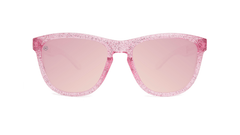 Kids Sunglasses with Pink Sparkle Frame and Pink Lenses, Front