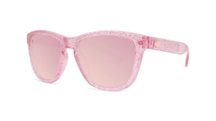 Kids Sunglasses with Pink Sparkle Frame and Pink Lenses, Threequarter