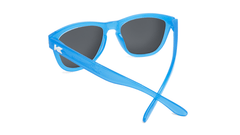 Kids Sunglasses with Glossy Blue Frame and Rainbow Lenses, Back