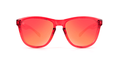 Kids Sunglasses with Red Monochrome Frame and Red Lenses, Front