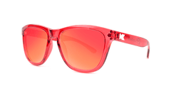 Kids Sunglasses with Red Monochrome Frame and Red Lenses, Threequarter