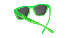 Kids Sunglasses with Glossy Green Frame and Green Lenses, Back