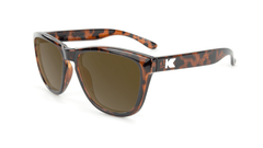 Knockaround Kids Sunglasses Tortoise Shell Frames with Amber Lenses, Flyover