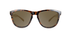 Knockaround Kids Sunglasses Tortoise Shell Frames with Amber Lenses, Front