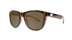 Knockaround Kids Sunglasses Tortoise Shell Frames with Amber Lenses, Threequarter