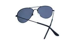 Mile High Sunglasses with Black Frames and Polarized Black Smoke Lenses, Back