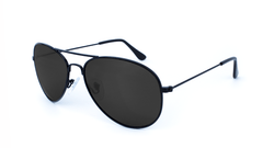 Mile High Sunglasses with Black Frames and Polarized Black Smoke Lenses, Flyover
