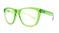 Rx Premiums with Glossy Agave Frames and Prescriptions Lenses, ThreeQuarter
