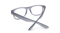 Rx Fort Knocks with Frosted Grey Frames and Prescriptions Lenses, Back