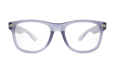 Rx Fort Knocks with Frosted Grey Frames and Prescriptions Lenses, Front