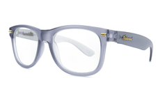 Rx Fort Knocks with Frosted Grey Frames and Prescriptions Lenses, ThreeQuarter