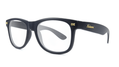 Rx Fort Knocks with Matte Black Frames and Prescriptions Lenses, ThreeQuarter