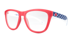 Rx Premiums with American Flag Colored Frame and Prescriptions Lenses, ThreeQuarter