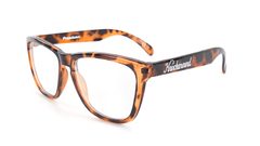 Knockaround Rx Classics with Glossy Tortoise Shell Frames and Prescriptions Lenses, Flyover
