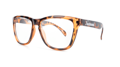 Knockaround Rx Classics with Glossy Tortoise Shell Frames and Prescriptions Lenses, Threequarter