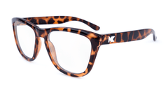 Rx Premiums with Glossy Brown Tortoise Shell Frames and Prescriptions Lenses, Flyover