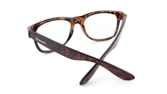 Rx Fort Knocks with Glossy Tortoise Shell Frames and Prescriptions Lenses, Back