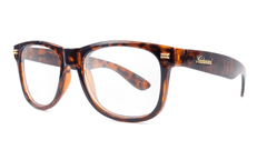 Rx Fort Knocks with Glossy Tortoise Shell Frames and Prescriptions Lenses, ThreeQuarter