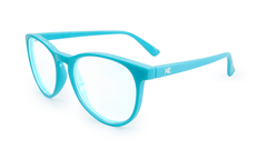 Rx Mai Tais with Glossy Turquoise Frames and Prescriptions Lenses, Flyover