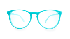 Rx Mai Tais with Glossy Turquoise Frames and Prescriptions Lenses, Front