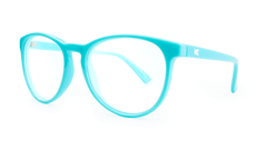Rx Mai Tais with Glossy Turquoise Frames and Prescriptions Lenses, ThreeQuarter