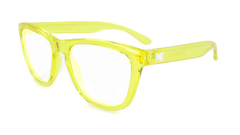 Rx Premiums with Yellow Frames and Prescriptions Lenses, Flyover