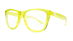 Rx Premiums with Yellow Frames and Prescriptions Lenses, ThreeQuarter