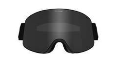 Snow Goggles with Black Frame and Smoke Lens, Front