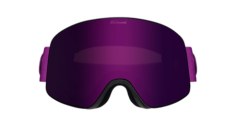 Snow Goggles with Black Frame and Purple Lens, Hard Case