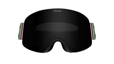 Snow Goggles with Black Frame and Smoke Lens, Hard Case