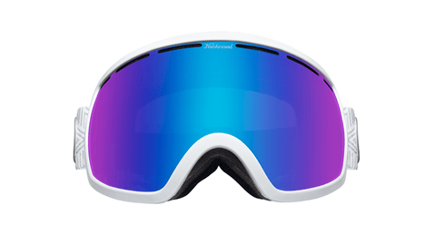 Snow Goggles with White Frame and Snow Opal Lens, Hard Case