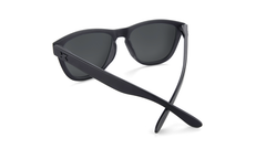 Sunglasses with Matte Black Frame and Black Smoke Lenses, Back