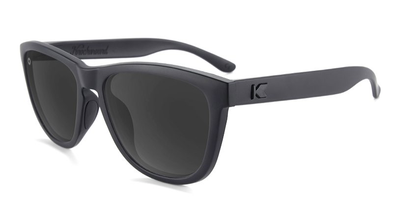 Sunglasses with Matte Black Frame and Black Smoke Lenses, Flyover